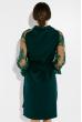 Платье с кружевными рукавами 95P8027 бутылочный