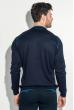 Джемпер мужской с геометрическим орнаментом 50PD484 темно-синий
