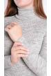 Гольф женский  607F008 светло-серый меланж