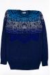 Джемпер 129P007 сине-бирюзовый