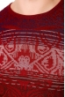 Джемпер 129P007 бордовый