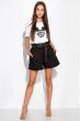 Модные женские шорты 153P127 черный