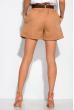 Модные женские шорты 153P127 светло-коричневый