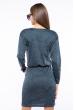 Платье приталенного покроя 110P040 темно-зеленый