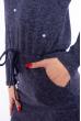 Платье приталенного покроя 110P040 чернильный