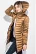 Куртка женская с капюшоном 68PD160 горчичный