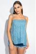 Блуза женская с нежным цветочным принтом 266F011-10 васильковый