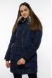 Куртка женская с капюшоном 120PSKL9603 темно-синий