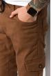 Брюки с манжетами 120PMR001 светло-коричневый