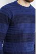 Джемпер в крупную полоску 85F320 сине-черный