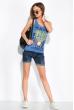 Майка женская с текстовым принтом 120PL565 джинс