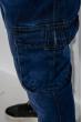 Джинсы карго  с манжетами 211P237 синий