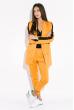 Костюм женский (брюки, пиджак) с контрастной полосой 72PD203 терракотово-черный