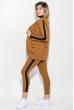 Костюм женский (брюки, пиджак) с контрастной полосой 72PD203 черно-грифельный