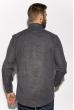 Рубашка в клетку 201P022 темно-синий / бежевый