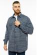 Рубашка в клетку 201P022 темно-синий / белый