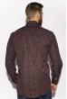 Рубашка в клетку 201P022 черно-бордовый