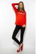 Лонгслив женский с принтом 85F10154 красный