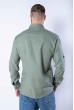 Рубашка с длинными рукавами в полоску 644f002 оливковый