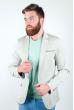 Пиджак светлый летний №158F008 оливковый