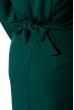 Платье женское, на запах  95P7098 бутылочный