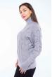 Свитер женский с объемными рукавами 120PRZGR030 серый