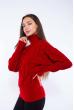 Свитер женский с объемными рукавами 120PRZGR030 красный
