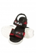 Босоножки женские 11P701 черно-красный