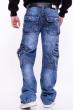 Джинсы широкие с накладными карманами 134P5749 синий