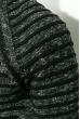 Джемпер мужской, вязаный  267F026 черно-белый