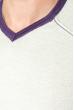 Пуловер мужской с нашивкой 50PD470 серо-фиолетовый