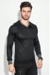 Пуловер мужской с нашивкой 50PD470 графит