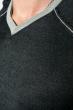 Пуловер мужской с нашивкой 50PD470 грифельно-салатовый