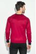 Пуловер мужской с нашивкой 50PD470 красно-черный