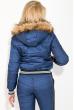 Костюм женский теплый с манжетами на рукавах 77PD859 синий
