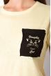 Хлопковая футболка с принтом на кармане 317F077  желтый