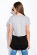 Хлопковая футболка с принтом на кармане 317F077  светло-серый