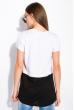 Хлопковая футболка с принтом на кармане 317F077  белый