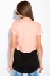 Хлопковая футболка с принтом на кармане 317F077  персиковый