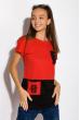 Хлопковая футболка с принтом на кармане 317F077  красный