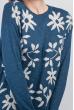 Туника цветочный принт 384F002 синий