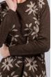 Туника цветочный принт 384F002 коричневый