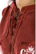 Жилетка женская, стильная с капюшоном 32P054 бордо
