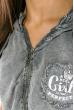 Жилетка женская, стильная с капюшоном 32P054 светло-серый