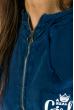 Жилетка женская, стильная с капюшоном 32P054 синий