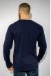 Лонгслив с принтом на груди 85F1007 темно-синий