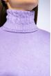 Гольф женский комбинированной вязки 120PZEL011 сиреневый