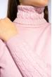 Гольф женский комбинированной вязки 120PZEL011 розовый