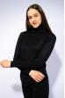 Гольф женский комбинированной вязки 120PZEL011 черный