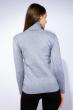 Гольф женский комбинированной вязки 120PZEL011 серый